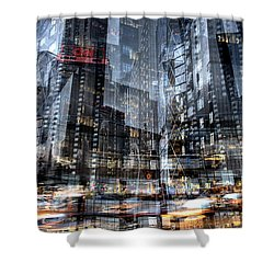 Shower Curtain featuring the photograph Columbus Circle Collage 1 by Dave Beckerman