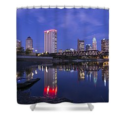 Columbus Evening On Water Shower Curtain