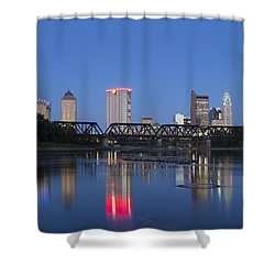 Columbus Evening Sky Shower Curtain