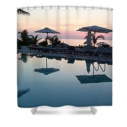 Shower Curtain featuring the photograph Columbus Isle by Mary-Lee Sanders