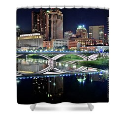 Columbus Over The Scioto Shower Curtain
