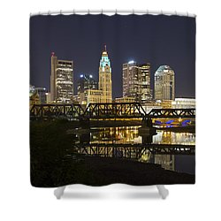 Columbus Skyline 2 Shower Curtain