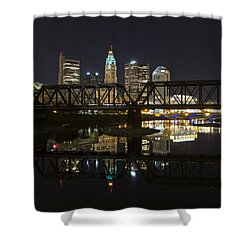 Columbus Skyline Shower Curtain