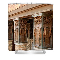 Columns At Frank Lloyd Wright Studio Shower Curtain