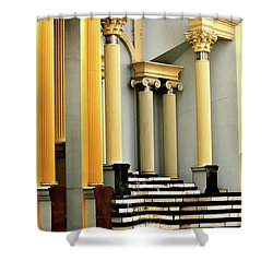 Columns At Plaza De Italia Shower Curtain