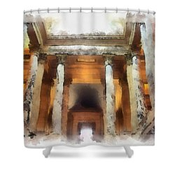 Columns Shower Curtain by Paulette B Wright