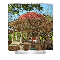 Comal County Gazebo In Main Plaza Shower Curtain