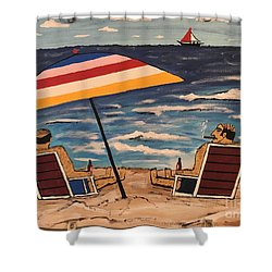 Comb Over Brothers Shower Curtain by Jeffrey Koss