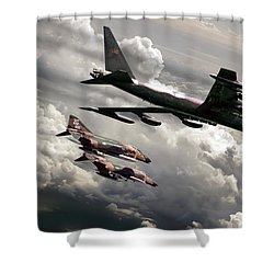 Combat Air Patrol Shower Curtain by Peter Chilelli