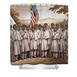 'come And Join Us Brothers' Shower Curtain by American School