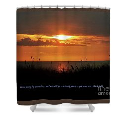 Come Away With Me  Shower Curtain by Christy Ricafrente