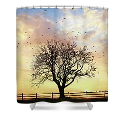 Shower Curtain featuring the photograph Come Fly Away by Lori Deiter