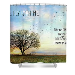 Shower Curtain featuring the photograph Come Fly With Me by Lori Deiter