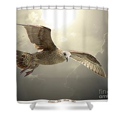 Come Fly With Me Shower Curtain by Mariarosa Rockefeller
