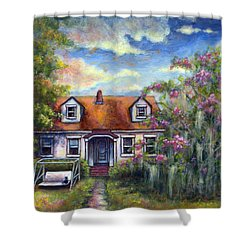 Shower Curtain featuring the painting Come Let Me Love You by Retta Stephenson