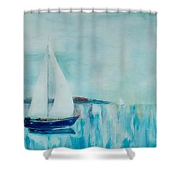 Shower Curtain featuring the painting Come Sail Away by Gary Smith