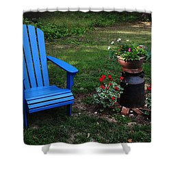 Shower Curtain featuring the photograph Come Sit  by Joanne Coyle
