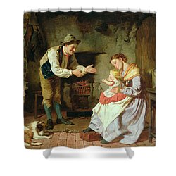 Come To Daddy Shower Curtain by William Henry Midwood