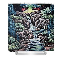 Come Walk With Me 2 Shower Curtain by Cheryl Pettigrew