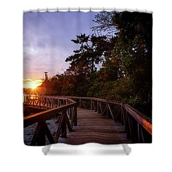 Come Walk With Me Shower Curtain