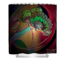 Comely Cosmos Shower Curtain