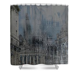 Comes The Night - City Deamscape Shower Curtain