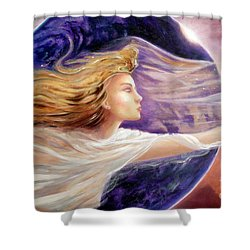 Comet Dreamer Voyage  Shower Curtain by Michael Rock