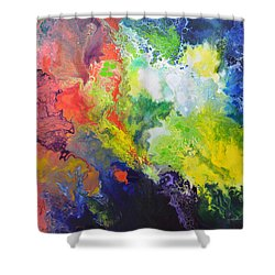 Comet Shower Curtain by Sally Trace