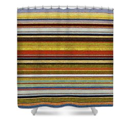 Comfortable Stripes Vl Shower Curtain