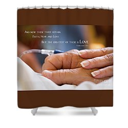 Comforting Hand Of Love Shower Curtain