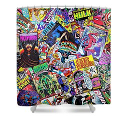 Comic Books Shower Curtain