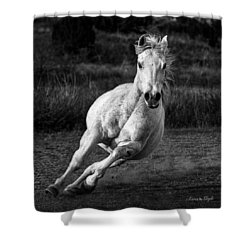 Shower Curtain featuring the photograph Coming At Ya by Karen Slagle