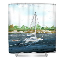 Coming Back To The Isle Of Palms Shower Curtain