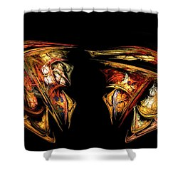 Coming Face To Face Shower Curtain