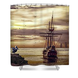 Coming Home Shower Curtain by Diane Schuster