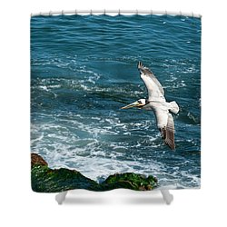 Coming In Shower Curtain by Sandra Bronstein