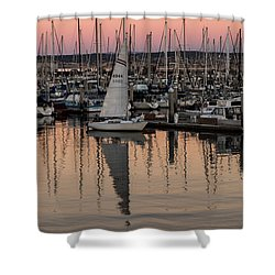 Coming Into The Harbor Shower Curtain