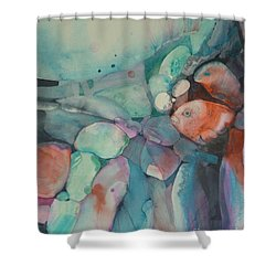 Coming Out Shower Curtain by Donna Acheson-Juillet