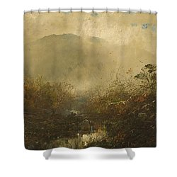 Coming Storm In The Adirondacks Shower Curtain by William Sonntag