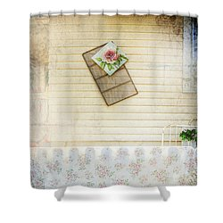 Coming Up Roses Shower Curtain by Craig J Satterlee