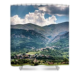 Cominio Shower Curtain by Randy Scherkenbach