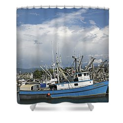 Commerical Fishing Boats Shower Curtain by Elvira Butler