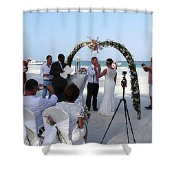 Commitment On The Beach In Kenya Shower Curtain