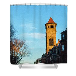 Commonwealth Avenue In Boston Shower Curtain