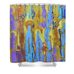 Communion Of Saints Shower Curtain by Elise Ritter
