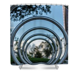 Commuter's Circle Shower Curtain