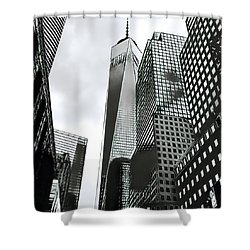 Commuters' View Of 1 World Trade Center Shower Curtain