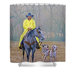 Compadres Shower Curtain