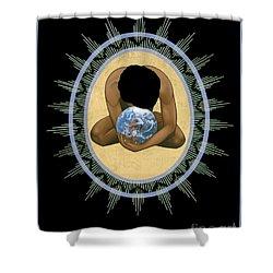 Compassion Mandala - Rlcmm Shower Curtain