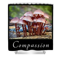 Shower Curtain featuring the photograph Compassion by Mary Jo Allen